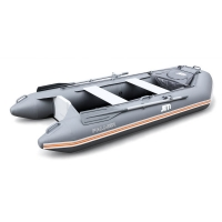 Лодка ПВХ под мотор Jet! Palmer 290, с пайолом, цвет темно-серый
