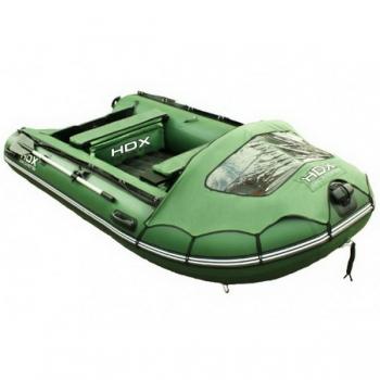 лодка hdx надувная, модель helium 370 am (многобаллонное дно), цвет зелёный HDX