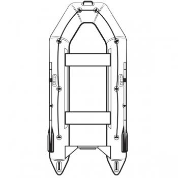 лодка пвх под мотор jet! palmer 290, с пайолом, цвет темно-серый Jet!