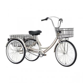 велосипед трехколесный omaks om-tr01-20-6 серебро колеса 24-20, 6 скоростей Omaks