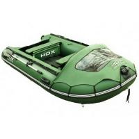 Лодка HDX надувная, модель HELIUM 370 AM (многобаллонное дно), цвет зелёный