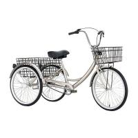 Велосипед трехколесный OMAKS OM-TR01-20-6 серебро колеса 24-20, 6 скоростей
